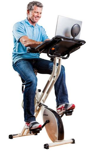 FitDesk v2.0 Desk Exercise Bike with Massage Bar