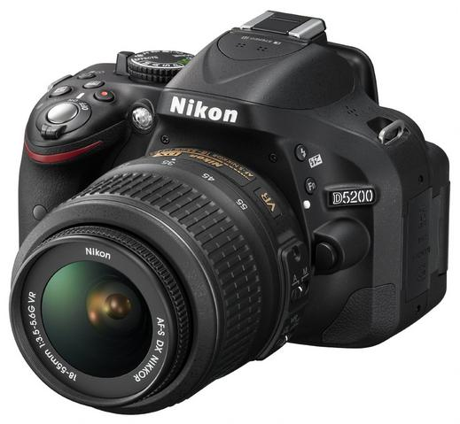 $339.99 Nikon D5200 24.1 MP Digital SLR Camera with 18-55mm VR Lens