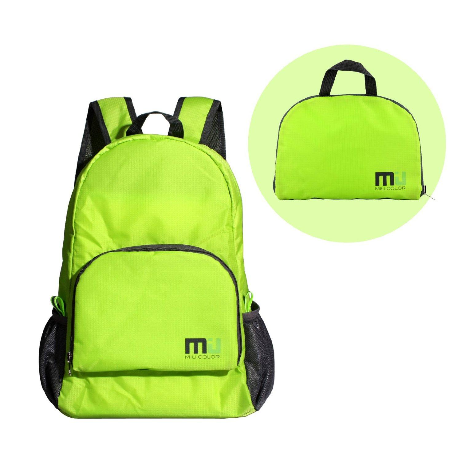$14.99 MIU COLOR® Packable Handy Lightweight Nylon Backpack Daypack - Foldable and Water Resistant