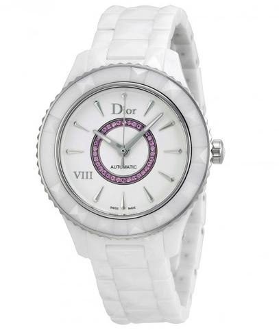 Lowest price! Christian Dior VIII White Dial Ceramic Ladies Watch, CD1245EFC001