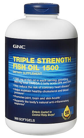 $49.99 GNC Triple Strength Fish Oil 1500 360 softgels