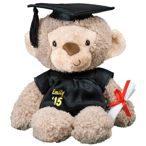Personalized Graduation Cap and Gown Monkey -14''