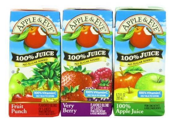 $9.96 Apple & Eve 100% Juice Variety Pack, 32 Count, 6.75 Oz Boxes