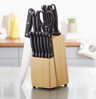 AmazonBasics 14-Piece Knife Set with Block