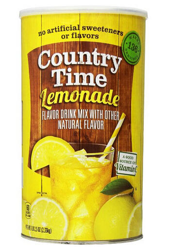 $4.12 Country Time Lemonade Drink Mix Canister, 82.5 Ounce
