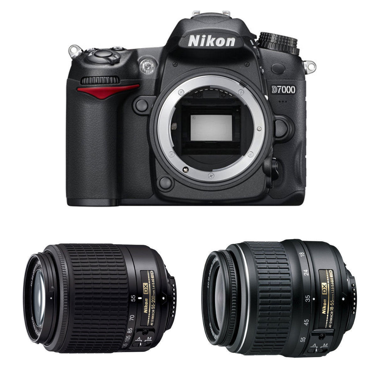 $499.99 Nikon Refurbished D7000 DSLR with 55-200 and 18-55mm Nikkor Lens