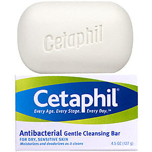 Cetaphil Gentle Cleansing Bar, Hypoallergenic, 4.5 Ounce (3 Count)