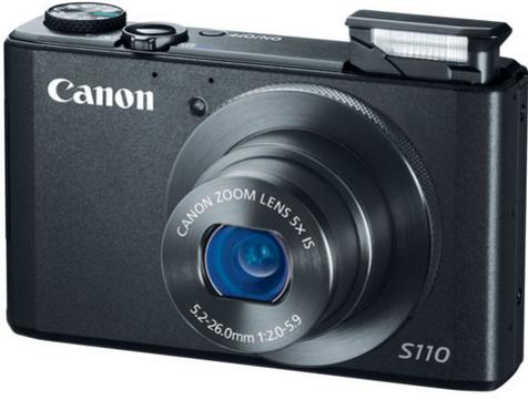 $129.99 Canon PowerShot S110 Black Refurbished