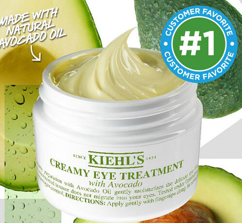 15% Off+3 Free Samples Creamy Eye Treatment with Avocado @ Kiehl's