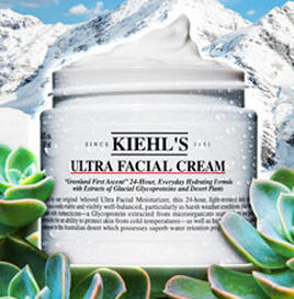 20% Off+3 Free Samples Ultra Facial Collections @ Kiehl's