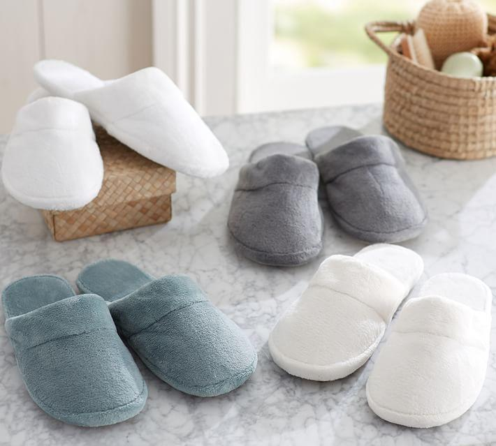 7.99Luxe Cozy Slippers @ Pottery Barn