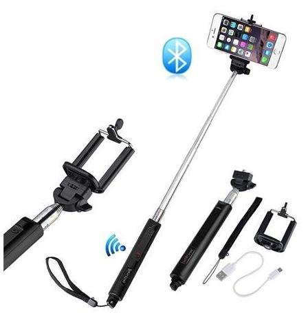 $10.99 Insten Selfie Stick Handheld Monopod with BUILT-IN Bluetooth Remote Shutter for Apple iOS iPhone 6 & Android Phones