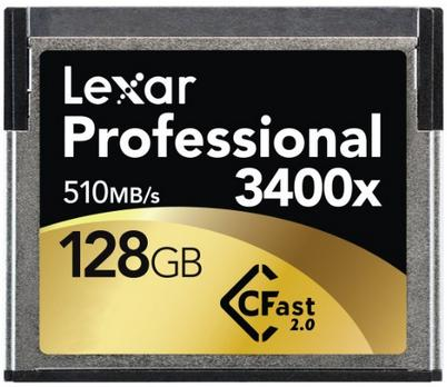 $314.99 Lexar Professional 3400x 128GB CFast 2.0 Card (Up to 510MB/s Read) w/Image Rescue 5 Software LC128CRBNA3400