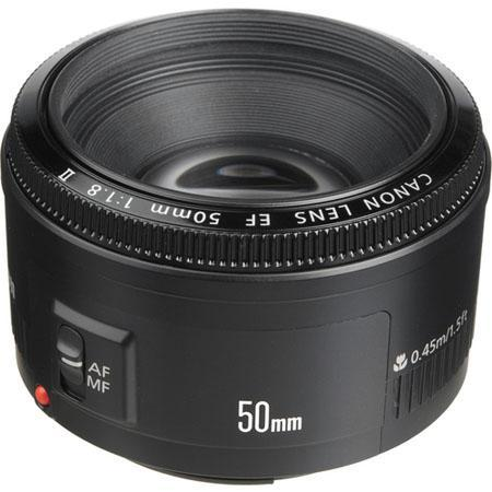 $86.99 Canon EF 50mm F/1.8 II Standard Auto Focus Lens