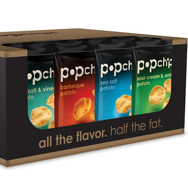 $13.95 Popchips Potato Chips 4 Flavor Variety Pack, 0.8 Ounce (Pack of 24)