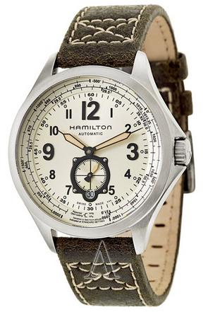$458 Hamilton Men's Khaki Aviation QNE Automatic Watch H76655723 (Dealmoon Exclusive)