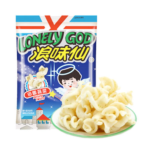 Lonely God Potato Twists, Garden Vegetables Flavors