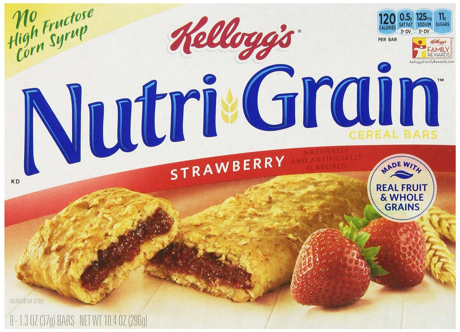 $11.46 Nutri-Grain Cereal Bars, Strawberry, 8-Count Bars, 10.4 Ounce, (Pack of 6)