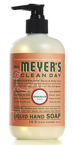 Mrs. Meyer's Clean Day Liquid Hand Soap, 12.5 Fluid Ounce (Pack of 3)