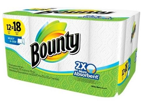$11.99 Bounty Select-A-Size White Paper Towels 12 Giant Rolls