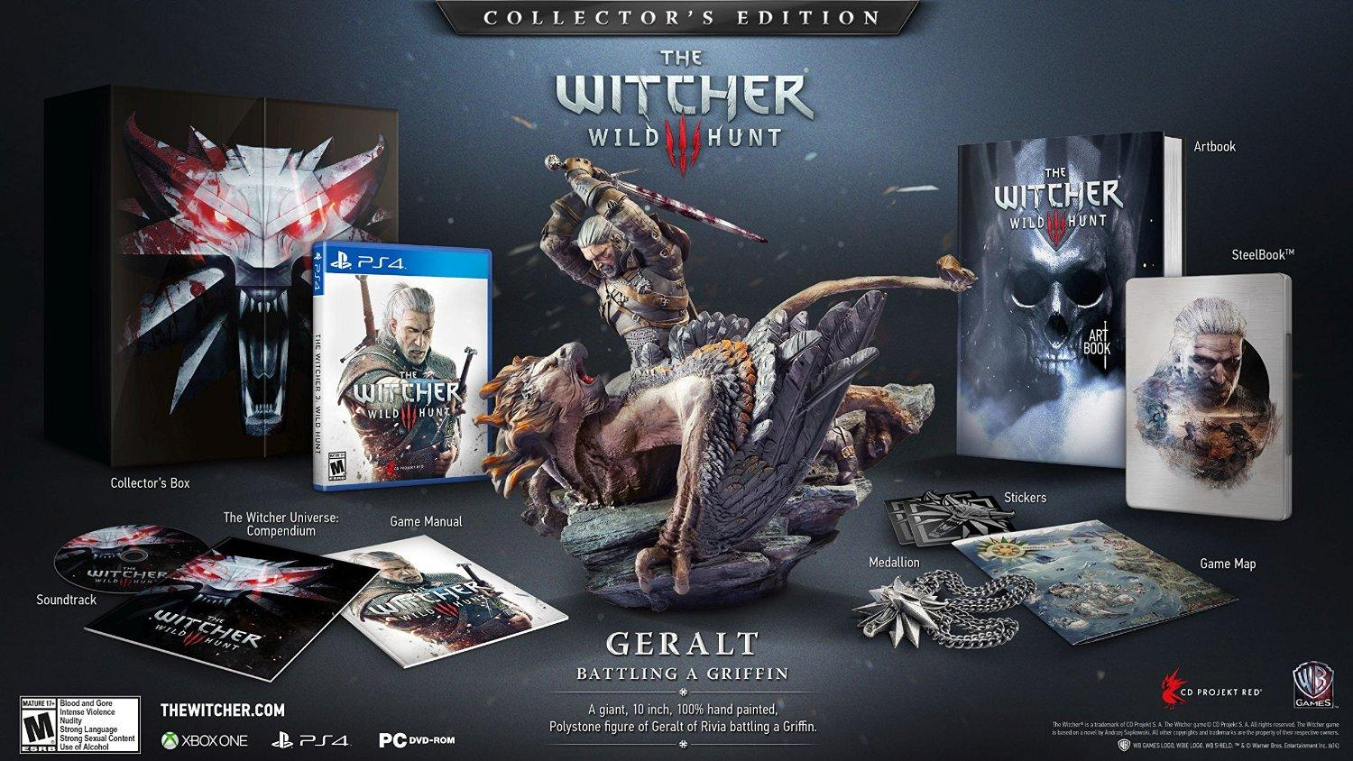 Pre Order $149.99 The Witcher: Wild Hunt Collector's Edition - PlayStation 4