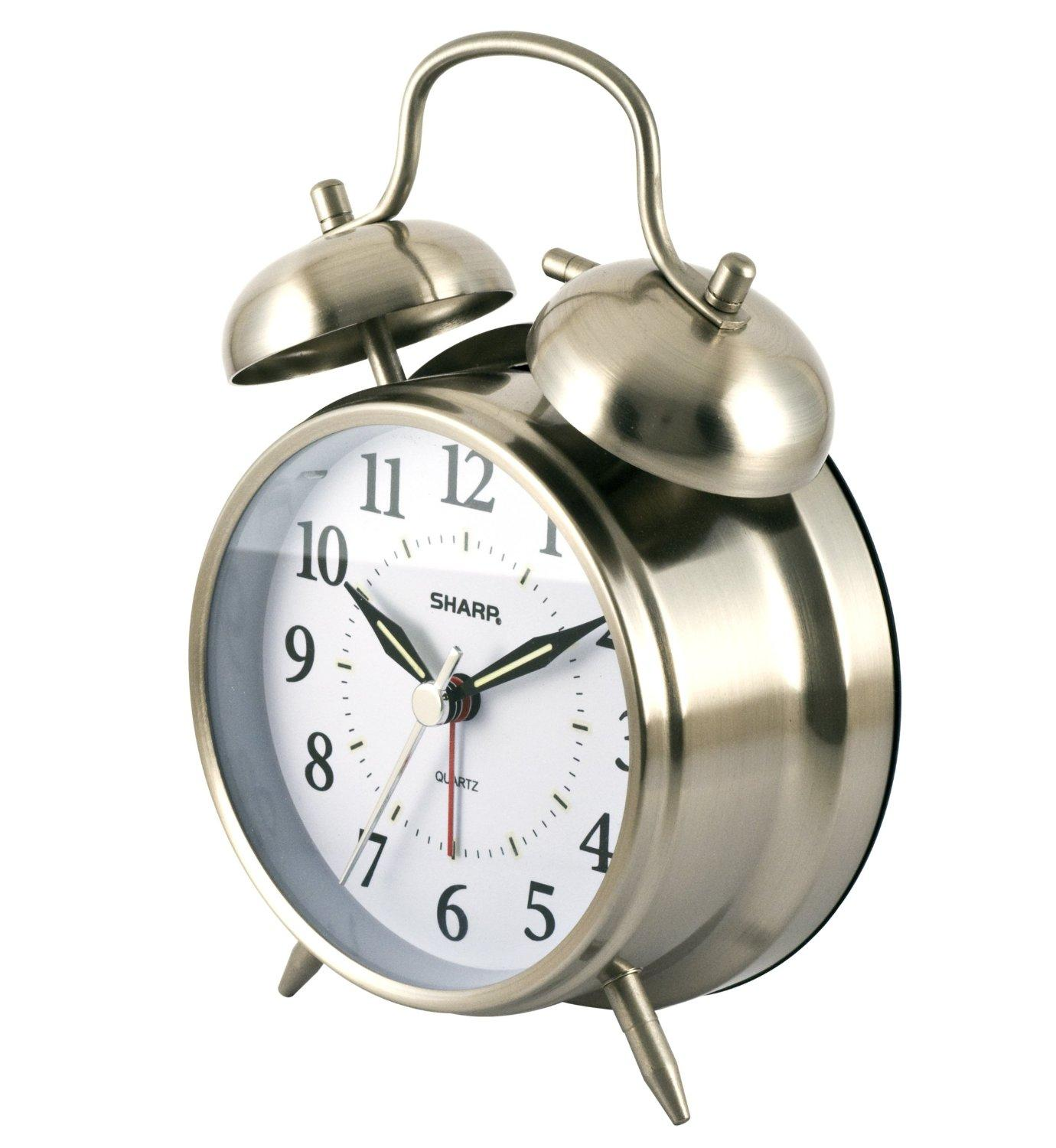 Sharp SPC800 Quartz Analog Twin Bell Alarm Clock