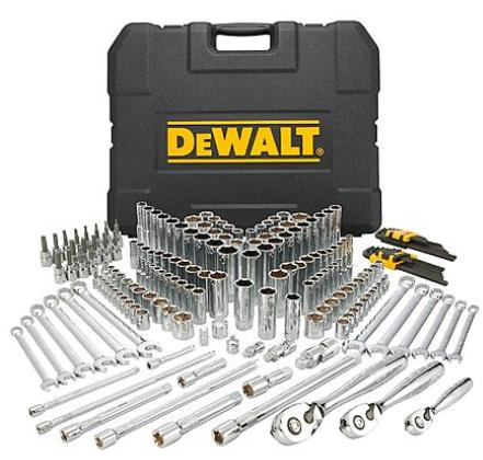 $99.96 DeWalt 204 Piece Mechanics Tool Set