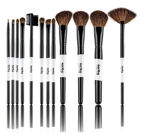 $10.65 Professional Studio Quality 12 Piece Natural Cosmetic Makeup Brushes Set