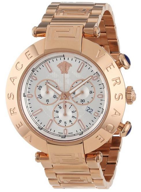 $1574.98 Versace Men's VA8040013 Reve Chrono Rose Gold Ion-Plated Stainless Steel Chronograph Date Watch