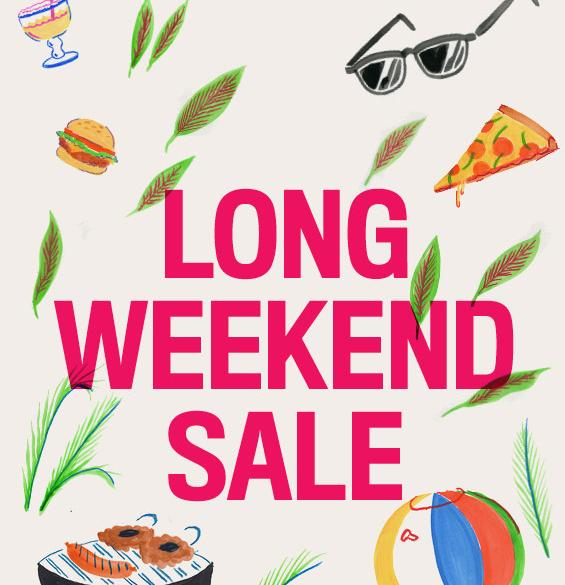 Up to 60% Off Long Weekend Sale @ Urban Outfitters