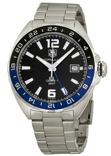 $1295 Tag Heuer Formula One Automatic Black Dial Stainless Steel Men's Watch THWAZ211ABA0875