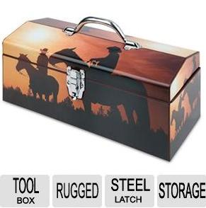 "$1.97 Sainty 16"" ""Home On The Range"" Latched Storage Box (24-045)"