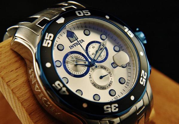 $81.59 Invicta Men's 80043 Pro Diver Chronograph Silver Dial Stainless Steel Watch