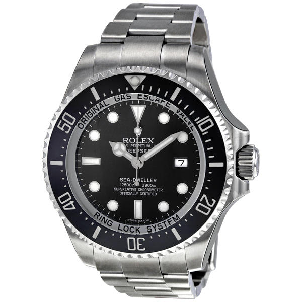 $8899.99 Rolex Sea Dweller DEEPSEA Black Index Dial Oyster Bracelet Stainless Steel Mens (116660BKSO)