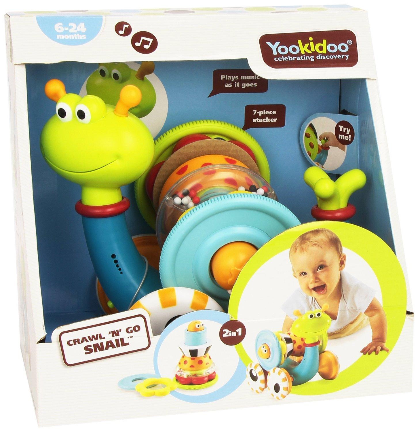 $19.95 Musical Crawl N' Go Snail With Stacker