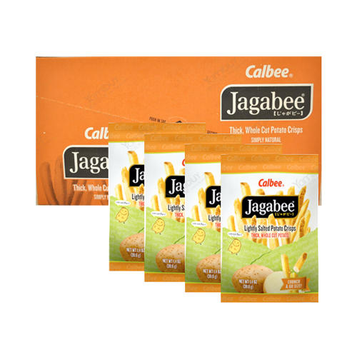$4.5 Calbee Jagabee Lightly Salted Potato Crisps, 8 Bags