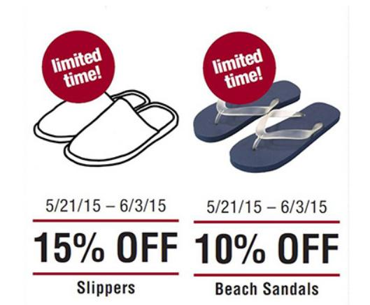 15% Off Slippers + 10% Off Sandals Summer Sale @ MUJI