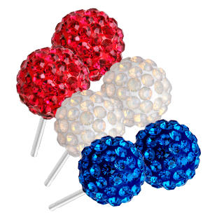 Ball Stud Earrings with Swarovski Crystal Only $19 Plus Free Shipping