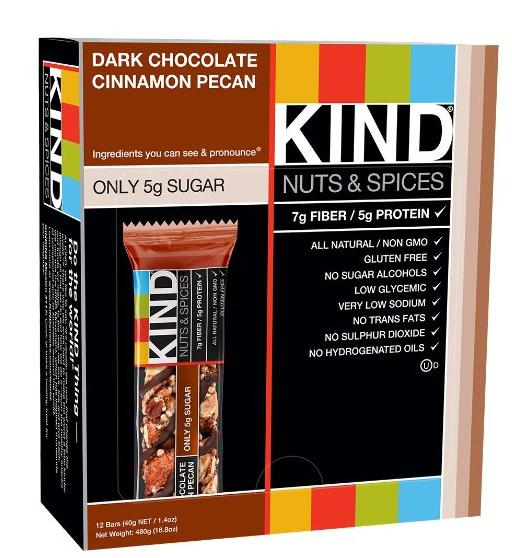 $1.66 KIND Nuts & Spices, Dark Chocolate Cinnamon Pecan, 1.4 Ounce, 12 Count