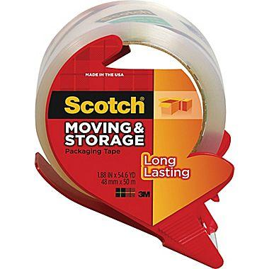 "$4.99 Scotch® Moving and Storage Tape, Clear, 1.88"" x 54.6 yds"