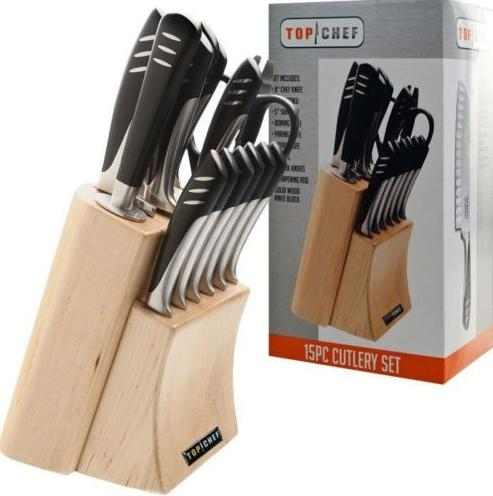 $99.99 Top Chef Knife Set - 15 Pieces - Ice-Tempered Stainless Steel