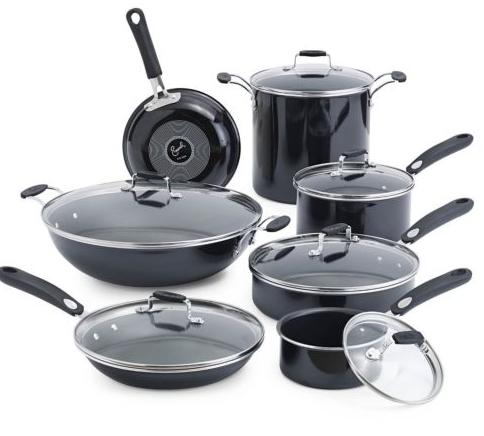 $109.99 Emeril By All-Clad Hard Enamel Black 13-piece Set