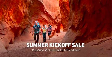 20% Off One Full-Price Item + Up to 50% Off Summer Kickoff Sale @ Backcountry