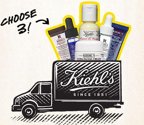 Free 3 Deluxe Samples  with Any Purchase of $40 or more @ Kiehl's