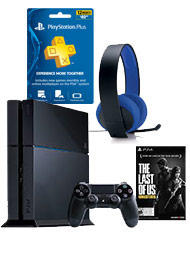 $399PlayStation 4 The Last of Us Remastered 500GB Bundle with Free PlayStation Plus 1 Year Membership Code and Silver Wired Headset