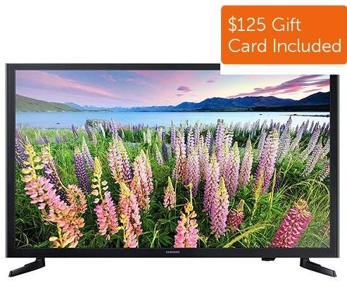 "$247.99 32"" Samsung UN32J5003 1080p LED HDTV (2015 Model) +$125 Dell eGift Card"