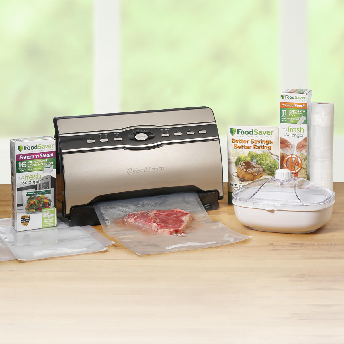 $127FoodSaver® V3880 Vacuum Sealer - The Master Chef Kit