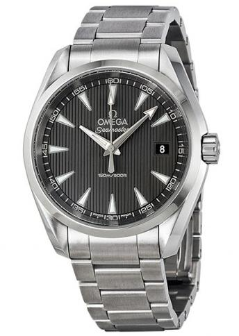 BOGO: OMEGA Seamaster Aqua Terra Grey Dial Stainless Steel Men's Watch+Free one watch