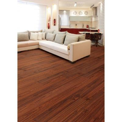 $0.58/sq.ft  Brazilian Cherry 7 mm Thick x 7-11/16 in. Wide x 50-5/8 in. Length Laminate Flooring