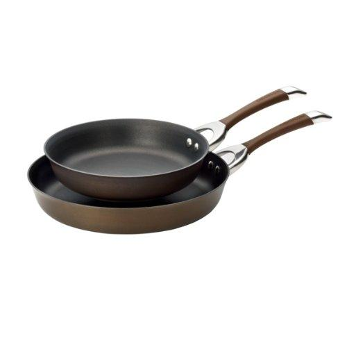 1 Circulon Symmetry Chocolate Hard Anodized Nonstick 10-Inch and 12-Inch Skillet Twin Pack